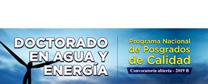 Cartel informativo sobre el Doctorado en Agua y Energía