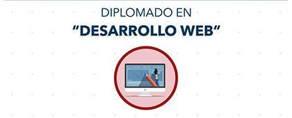 Cartel informativo sobre el Diplomado en Desarrollo Web en el Centro Universitario de los Valles
