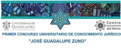 Cartel de Primer Concurso Universitario de Conocimiento Jurídico José Guadalupe Zuno