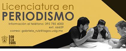Cartel de Licenciatura en Periodismo.