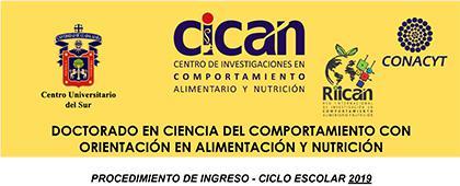 Cartel informativo de la convocatoria sobre el Doctorado en Ciencia del Comportamiento con orientación en alimentación y nutrición