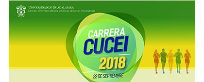 Cartel informativo sobre la Carrera CUCEI 2018, el 22 de septiembre, Salida y meta: Rectoría del CUCEI