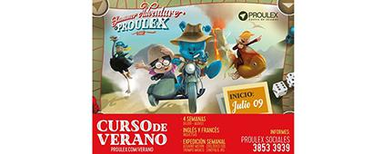 Cartel informativo sobre la convcatoria del Curso de verano PROULEX 2018