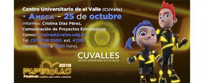 Cartel informativo sobre: Papirolas en CUValles, el 25 de octubre, de 9:00 a 19:00 h. en el Centro Universitario de los Valles