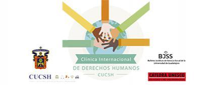 Cartel informativo sobre la Clínica Internacional de Derechos Humanos