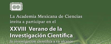 Invitación para Participar en el XXVIII Verano de la Investigación Científica. Fecha límite de recepción de solicitudes: 9 de marzo.
