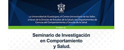 Cartel de Seminario de Investigación en Comportamiento y Salud.
