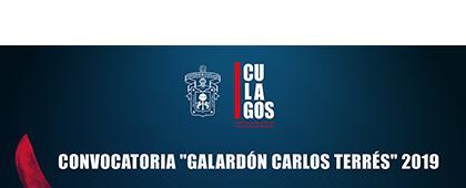 Cartel informativo sobre el Galardón Carlos Terrés 2019