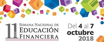 Cartel informativo sobre la Semana Nacional de Educación Financiera