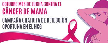 Identidad gráfica para anunciar la campaña Octubre, mes de lucha contra el cáncer de mama
