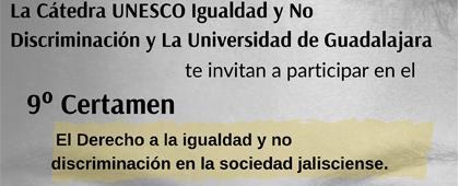 Cartel informativo para promocionar la convocatoria de la Cátedra UNESCO Igualdad y No Discriminación