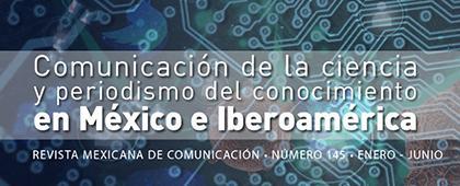 Participa con artículos, ensayos, entrevistas y reseñas en la revista No. 145: Comunicación de la ciencia y periodismo del conocimiento en México e Iberoamérica.