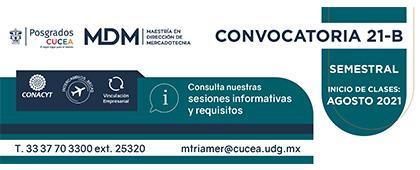 Maestría en Dirección de Mercadotecnia, convocatoria 21-B