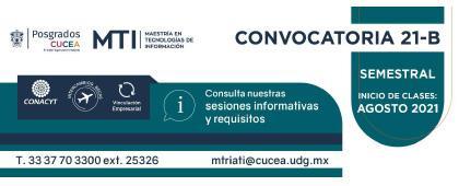 Maestría en Tecnologías de Información, convocatoria 21-B
