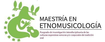 Identidad gráfica para anunciar la Maestría en Etnomusicología
