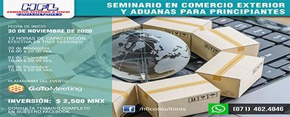 Seminario de Comercio Internacional y Aduanas para Principiantes