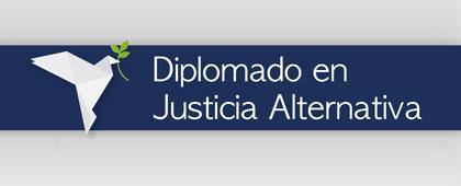 Identidad gráfica para anunciar el Diplomado en Justicia Alternativa