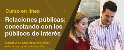 Curso: Relaciones públicas conectando con los públicos de interés.