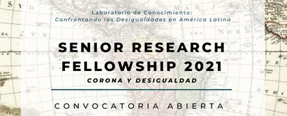 Senior Research Fellowship 2021. Corona y desigualdad