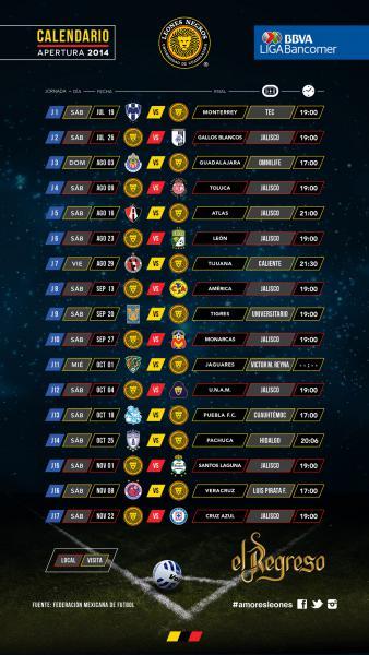 Liga Mx 2016 Calendar | Calendar Template 2016