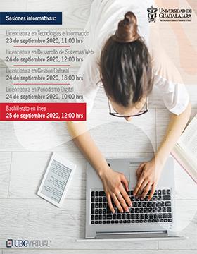 Sesiones informativas de bachillerato y licenciaturas de UDGVirtual, calendario 2021-A
