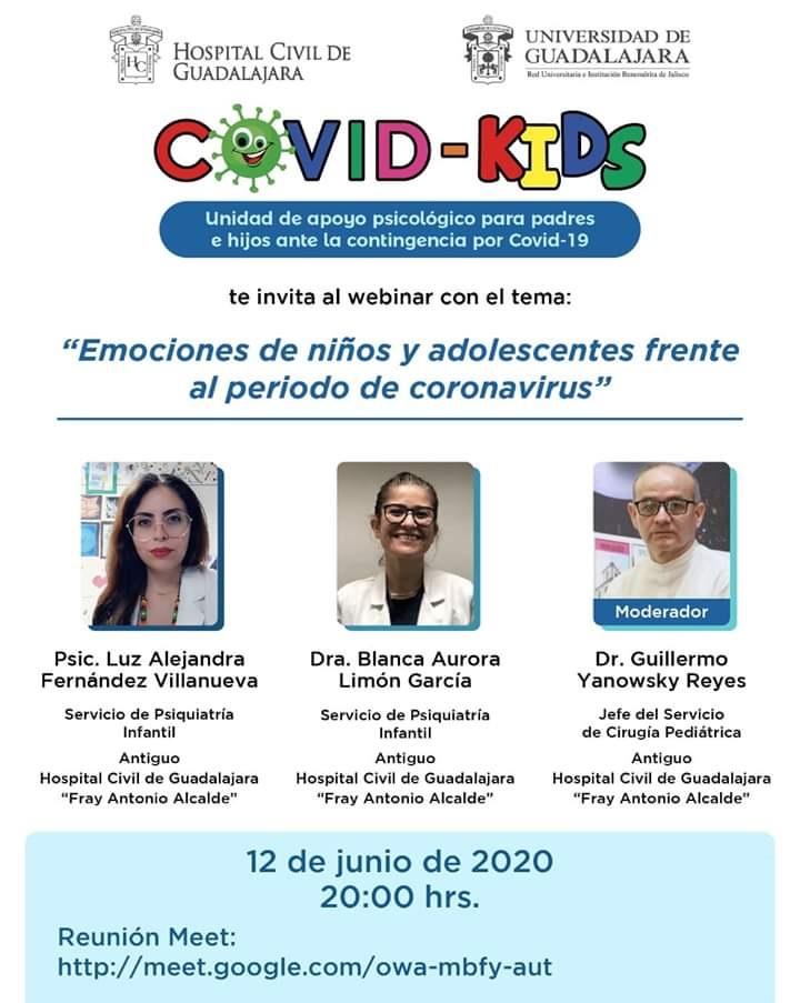 Webinar: Emociones de niños y adolescentes frente al periodo de coronavirus